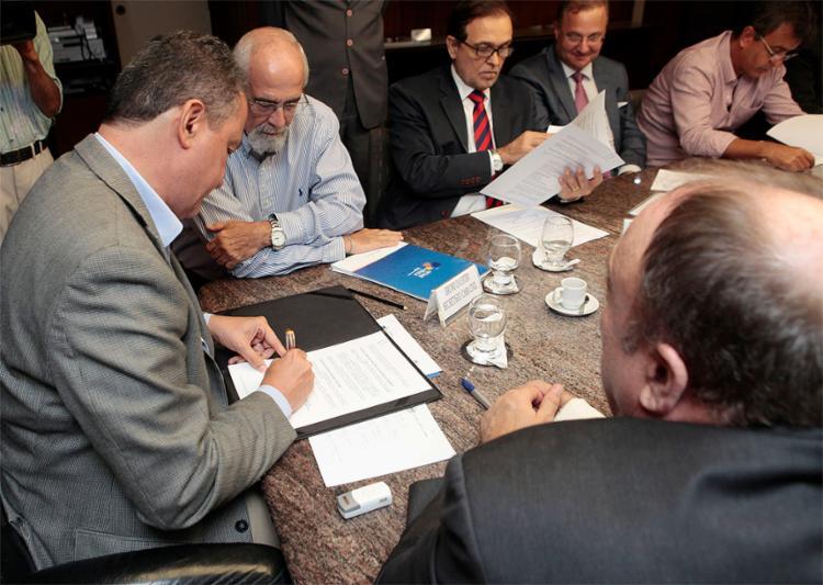 O governador assinou memorando de entendimento - Foto: Mateus Pereira l Gov-BA