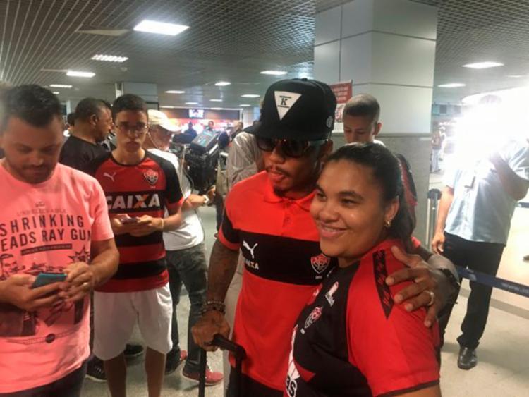 O time desembarcou nesta terça-feira, 29, em Salvador - Foto: Divulgação | EC Vitória
