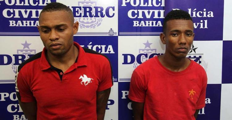 Eles foram reconhecidos pelas vítimas do caso no shopping - Foto: Ascom   Polícia Civil