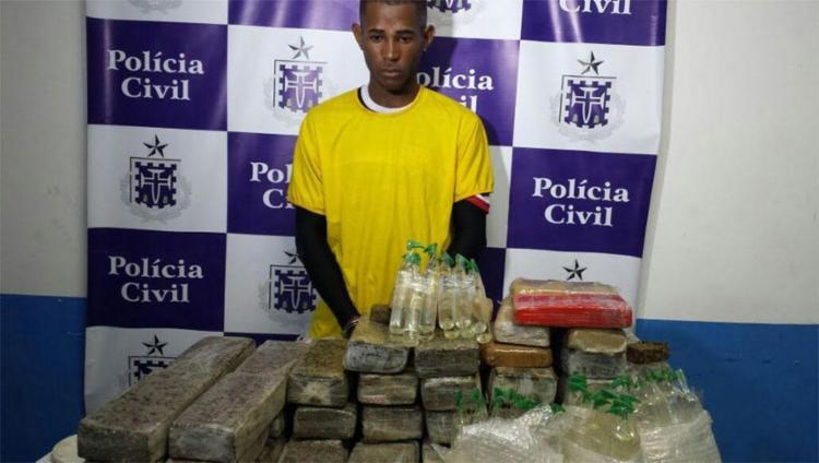 Mateus está custodiado no Complexo Policial de Feira de Santana aguardando decisão da justiça - Foto: Polícia Civil | Divulgação