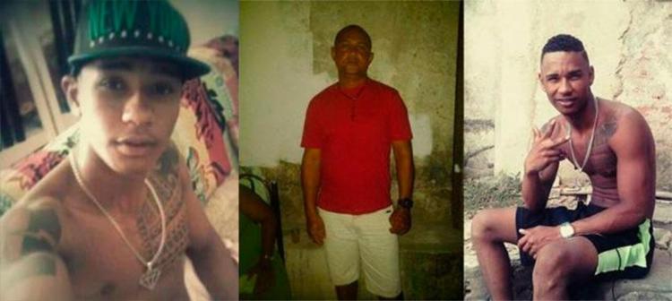 Entre vítimas, Valdir Cruz (de vermelho) que foi atingido por engano - Foto: Reprodução | Fala Simões Filho