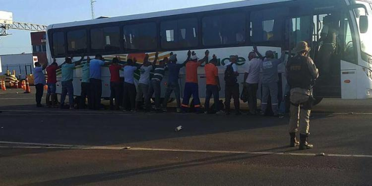 PM chegou ao ônibus por meio de denúncia - Foto: Divulgação | SSP