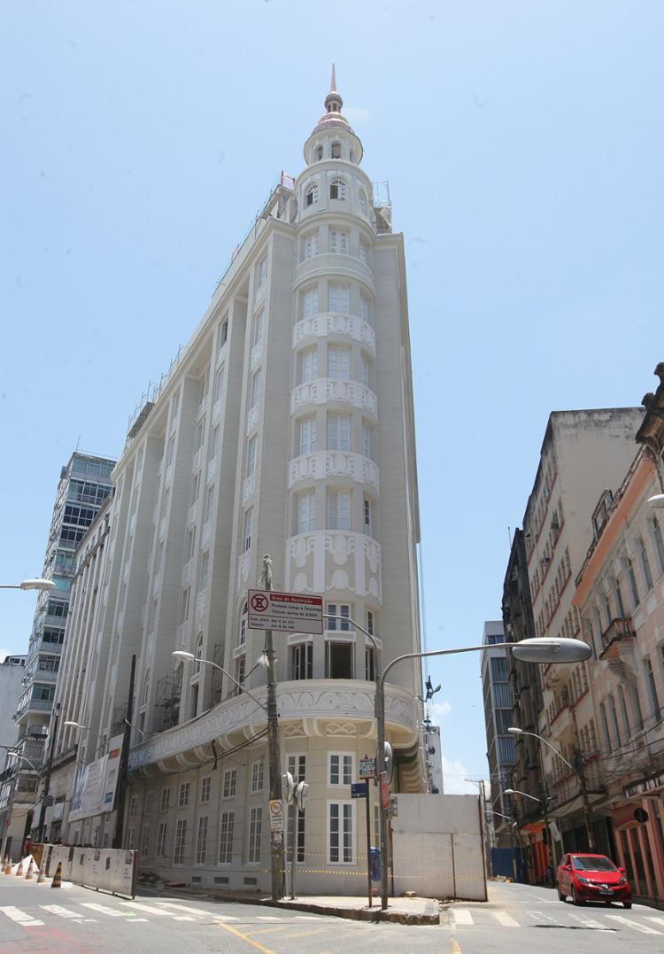 O Hotel Fera Palace é um símbolo da art déco na Bahia - Foto: Luciano da Matta l Ag. A Tarde