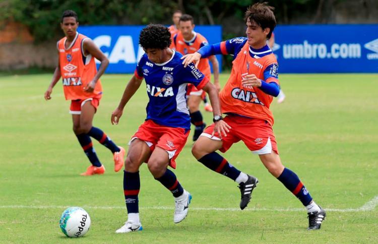 O time realizou um coletivo na manhã deste domingo - Foto: Felipe Oliveira | EC Bahia