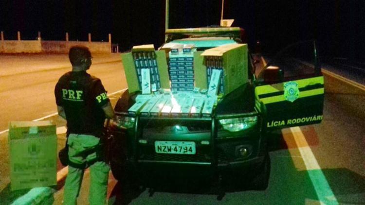O condutor vai responder pelo crime de contrabando previsto no artigo 334-A do Código Penal - Foto: Divulgação | PRF