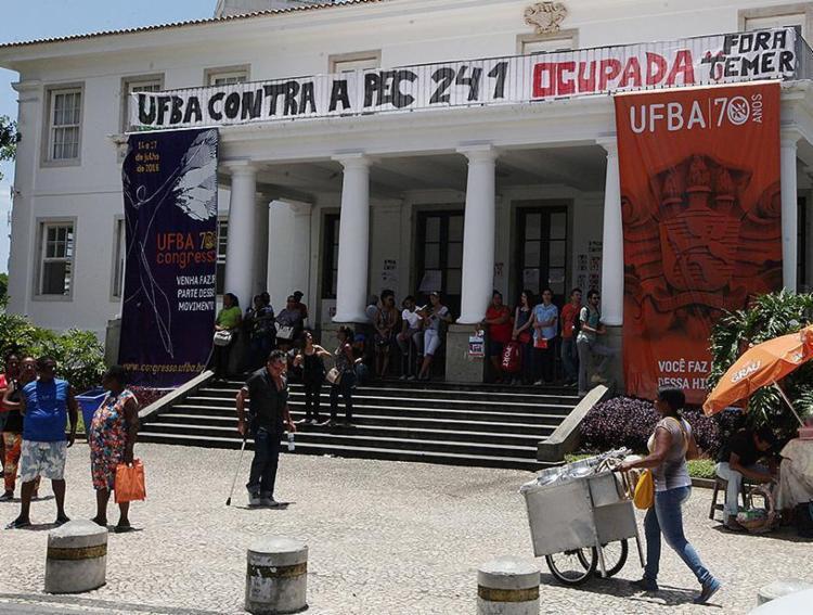 Ocupação de instituições adiou prova do Enem para mais de 190 mil alunos - Foto: Luciano da Matta l Ag. A TARDE l 01.11.2016