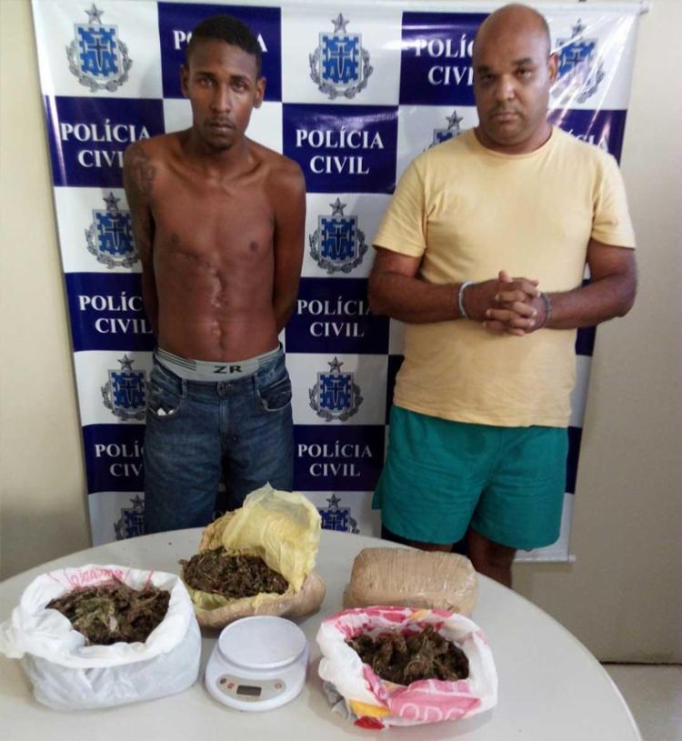 A dupla foi autuada em flagrante e estão à disposição da Justiça - Foto: Polícia Civil | Divulgação