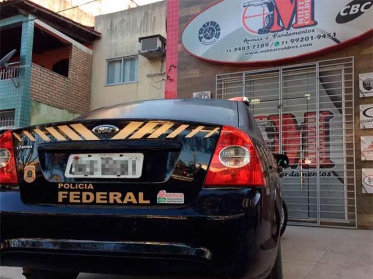 Segundo PF, loja de arma ajudava no esquema ilegal - Foto: Divulgação | PF