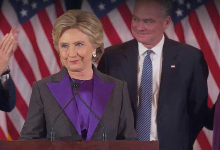 Hillary disse também esperar que Trump seja