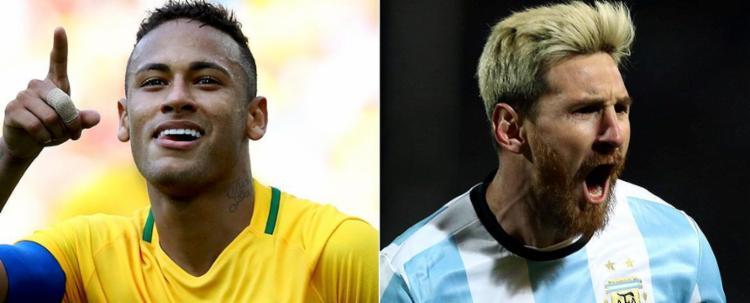 Neymar e Messi medirão forças para ver quem será mais decisivo para seu país no grande clássico - Foto: Leonhard Foeger e Marcos Brindicci l Reuters