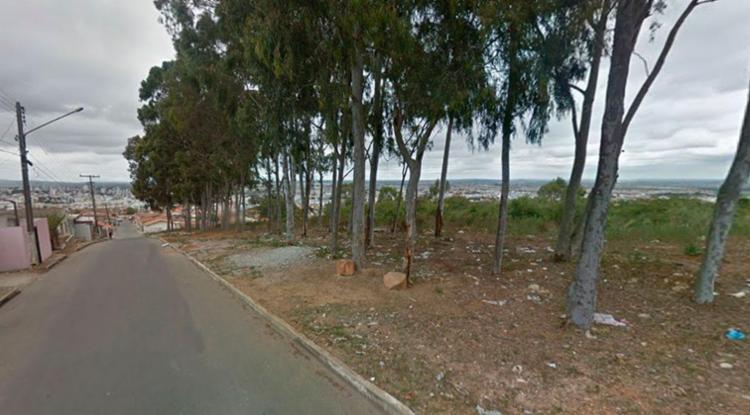 Ana Paula foi morta próximo de eucaliptos na rua Santa Madalena - Foto: Reprodução   Google Maps