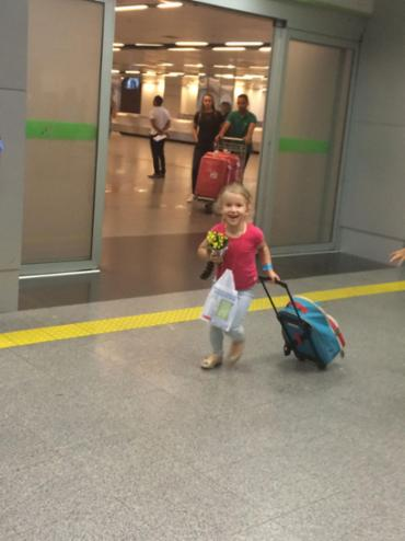 Aos 5 anos, Ana fez sua primeira viagem sozinha - Foto: Arquivo Pessoal