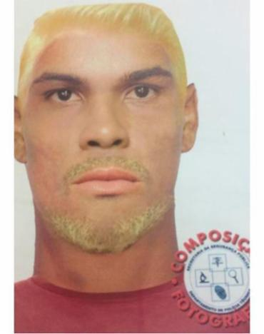 Retrato falado de suspeito de estuprar estudante em ponto no Vale das Padrinhas - Foto: Divulgação | DPT