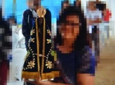 Imagem da santa foi levada por criminosos - Foto: Reprodução l Blog do Anderson