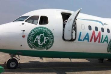 Avião da empresa boliviana Lamia, fretado pela Chapecoense, teria caído por falta de combustível - Foto: Cleberson Silva l Chapecoense