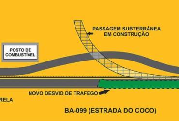 Concessionária alerta para novo desvio do tráfego na Estrada do Coco