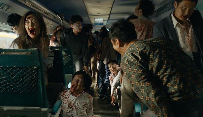 Ambientado em um trem, o filme ensaia uma revitalização no subgênero dos mortos-vivos - Foto: Divulgação