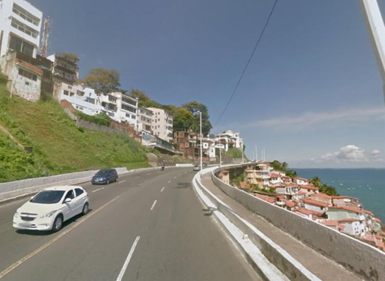 Acidente aconteceu na avenida Contorno - Foto: Reprodução | Google Maps