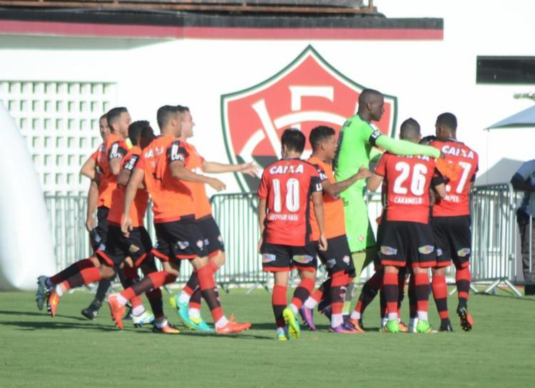 Leão saiu na frente e tomou virada, mas segue na Série A - Foto: Francisco Galvão / EC Vitória / Divulgação