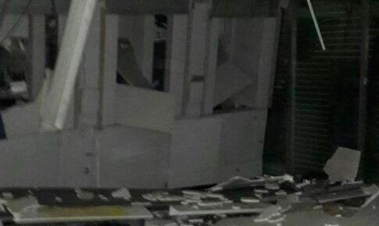 Agência ficou destruída na cidade - Foto: Fábio Santos   Voz da Bahia