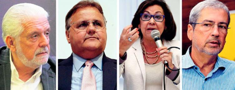 Entre os 17 políticos delatados estão Wagner (PT), Lídice da Mata (PSB), Geddel (PMDB) e Imbassahy (PSDB) - Foto: Joá Souza | Ag. A TARDE e Antonio Cruz | Agência Brasil