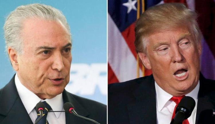 Trump e Temer concordaram que as relações Brasil-EUA