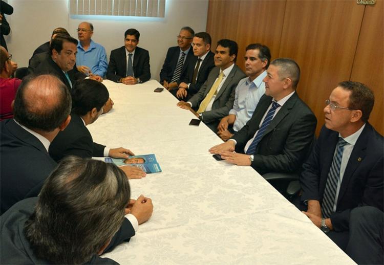 O prefeito se reuniu com a bancada da oposição na Assembleia Legislativa, mas negou ter discutido delações - Foto: Divulgação l Assembleia Legislativa da Bahia
