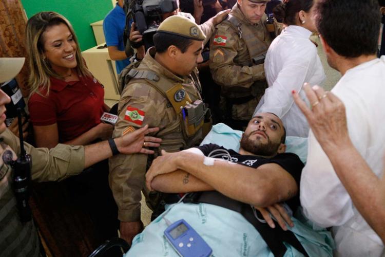 Alan Ruschel (foto) e Rafael Henzel chegaram a Chapecó nesta terça - Foto: Márcio Cunha   AFP