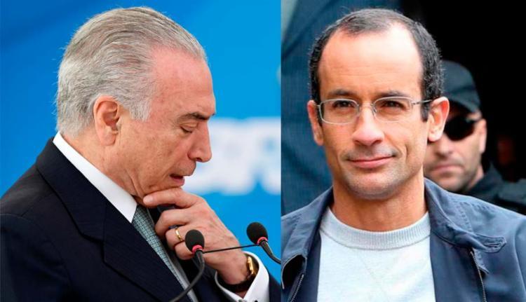 Marcelo prestou depoimento de delação premiada e citou Michel Temer - Foto: AFP e Reuters