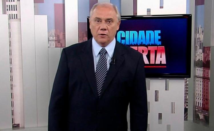 Marcelo Rezende apresenta o Cidade Alerta na emissora - Foto: Divulgação