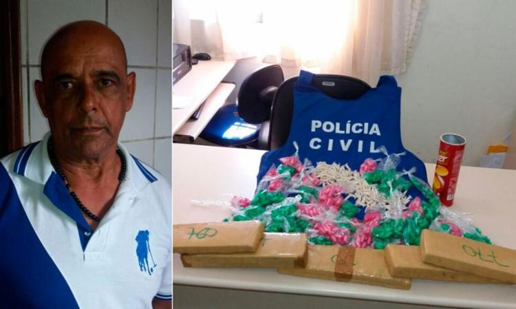 Manoel já havia sido autuado por tráfico - Foto: Divulgação | Polícia Civil