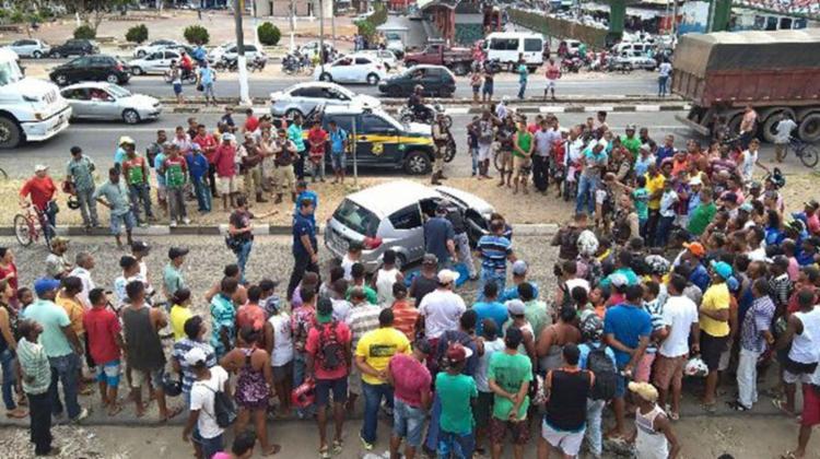 Crime aconteceu na av. Transnordestina, próximo à passarela Conceição Lobo - Foto: Reprodução   Ed Santos   Acorda Cidade
