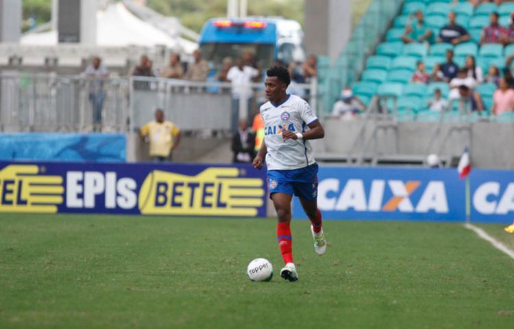 O jogador fez boa campanha com o Bahia em 2016 - Foto: Adilton Venegeroles   Ag. A Tarde