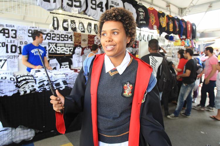 Talita curte a reação das pessoas ao vê-la como personagem da saga Harry Potter - Foto: Edilson Lima l Ag. A TARDE