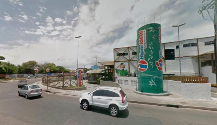 Crime aconteceu atrás do Hiperideal - Foto: Reprodução | Google Maps