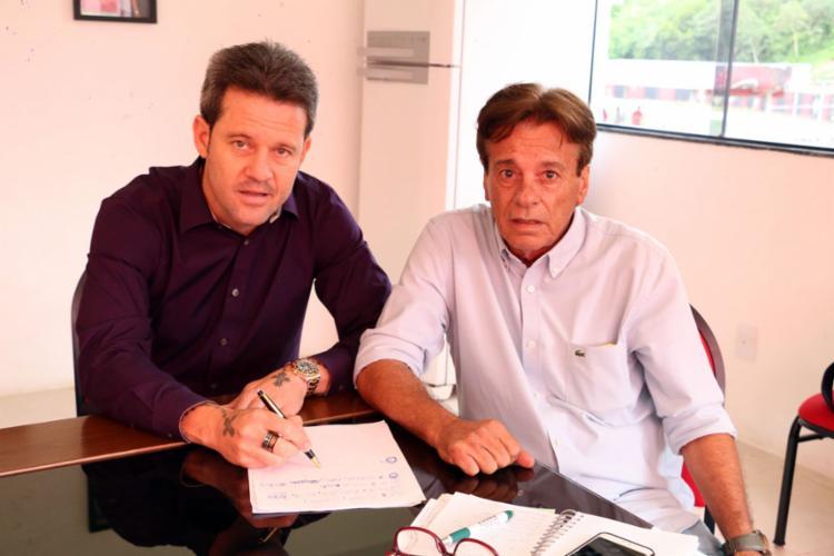 Além de Argel, a comissão técnica também ficará no clube - Foto: Francisco Galvão   EC Vitória