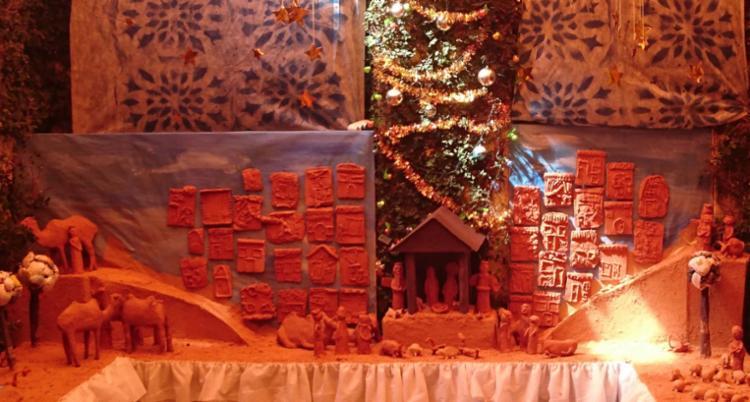 O presépio do Museu Udo Knoff, feito de cerâmica, traz arte de crianças e idosos - Foto: Divulgação