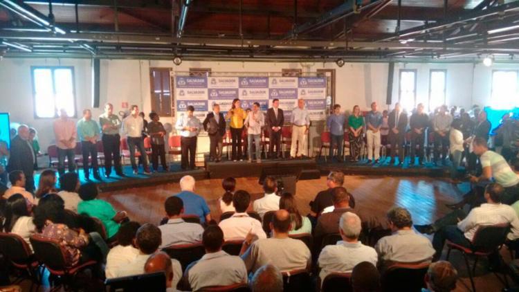ACM Neto apresentou os secretários na manhã desta quinta-feira - Foto: Edilson Lima | Ag. A TARDE