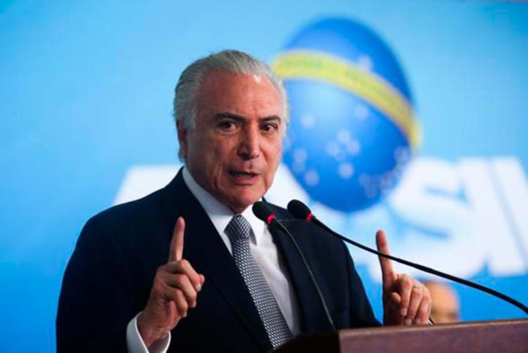 Michel Temer participa da cerimônia de assinatura da medida provisória do Programa de Manutenção e Geração de Empregos - Foto: Antonio Cruz | Agência Brasil