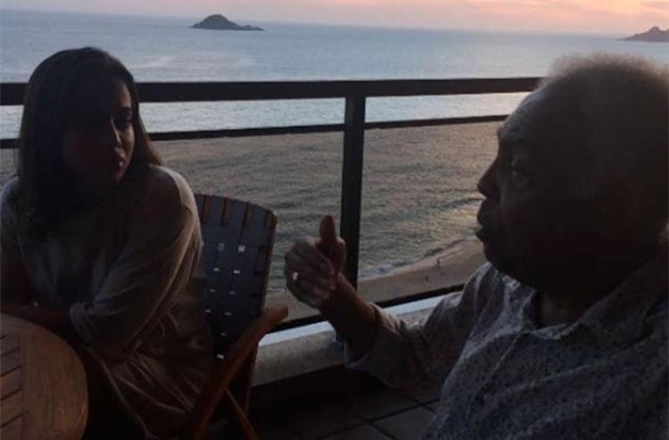 Anitta visitou Gil em sua casa no Rio - Foto: Reprodução | Instagram