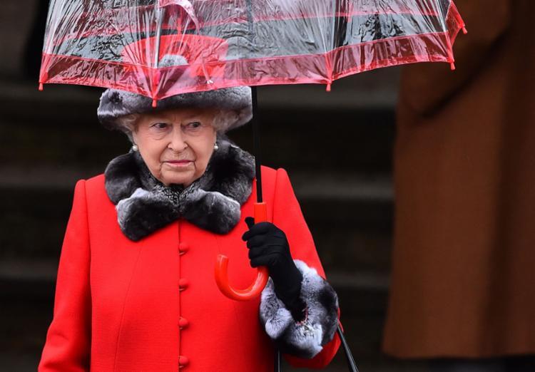 A rainha se poupou por conta de uma gripe - Foto: Ben Stansall   AFP