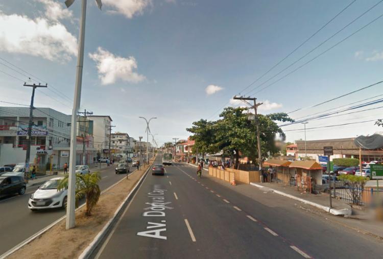 Avenida Dorival Caymmi, onde houve o registro da ocorrência - Foto: Reprodução | Google Maps