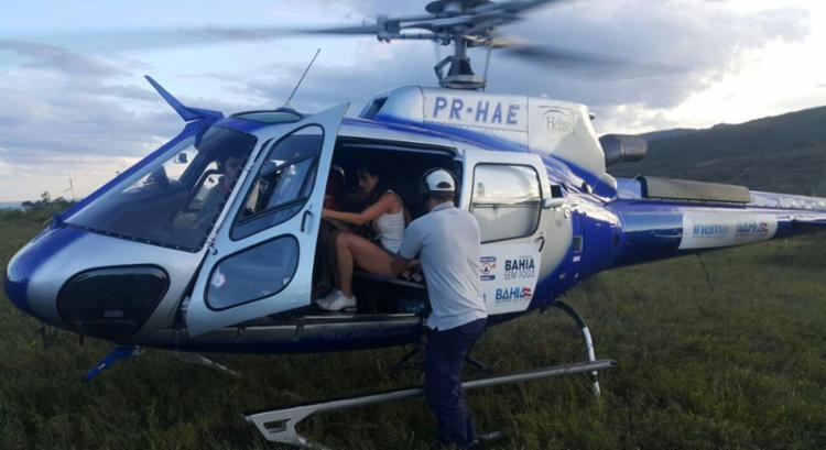 Casal conseguiu contato com os Bombeiros via celular - Foto: Divulgação | Corpo de Bombeiros