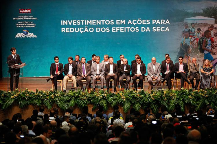 """Durante a solenidade, Michel Temer, nascido em São Paulo, disse que quer ser """"o maior presidente nordestino que passou pelo Brasil"""" - Foto: Beto Barata l PRD"""