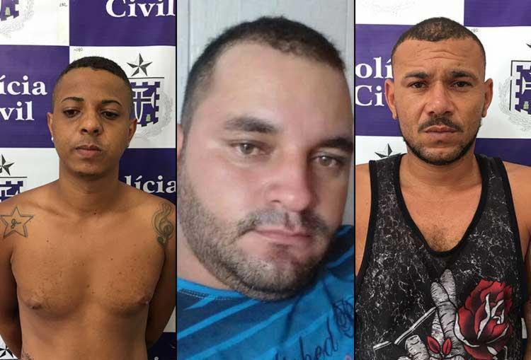 Homens foram presos na manhã desta quarta - Foto: Ascom   Polícia Civil