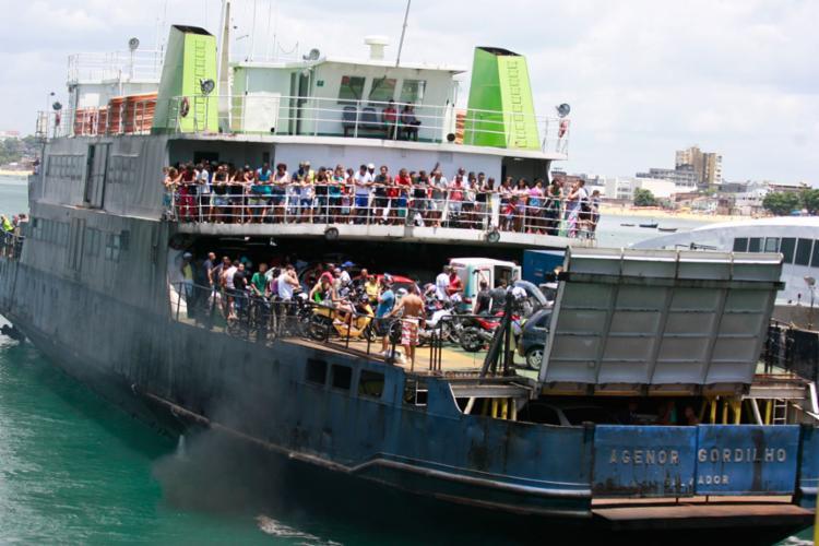 As sete embarcações funcionam neste sábado - Foto: Joá Souza | Ag. A TARDE