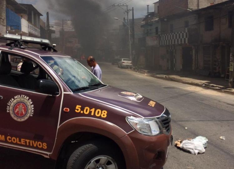A polícia reforçou o patrulhamento na Via Regional - Foto: Divulgação   SSP-BA