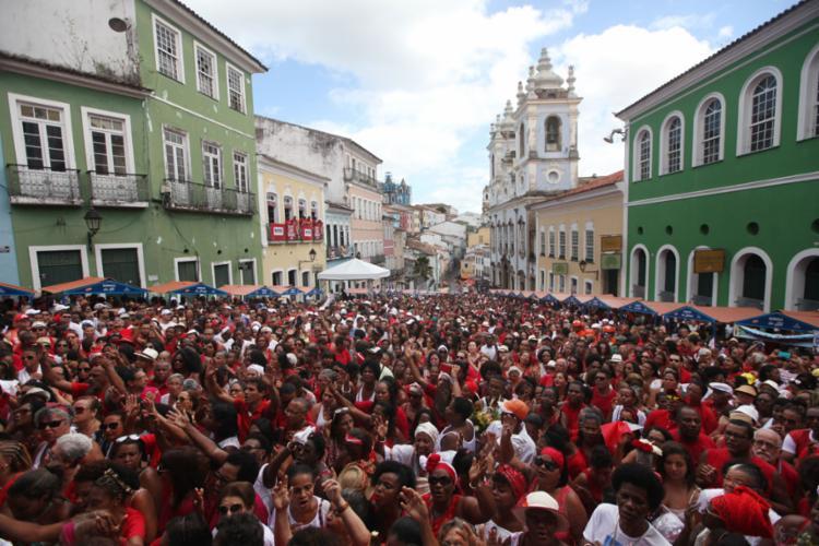 A festa aconteceu neste domingo, 4, no Pelourinho - Foto: Raul Spinassé | Ag. A Tarde