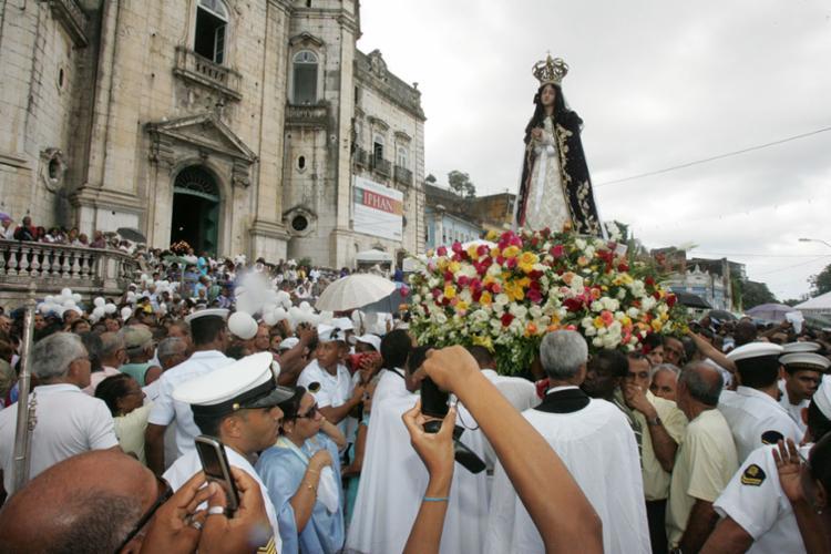 No dia da festa as ruas Miguel Calmon, Corpo Santo e Santos Dumon serão interditadas a partir das 10h30 - Foto: Joá Souza | Ag. A TARDE | Arquivo