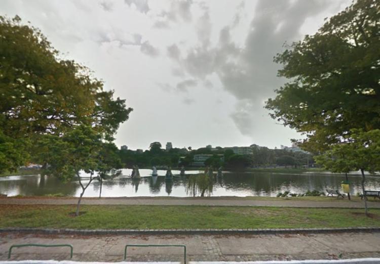 As buscas ao homem seguem na manhã desta segunda, 5, no Dique do Tororó - Foto: Reprodução   Google Maps